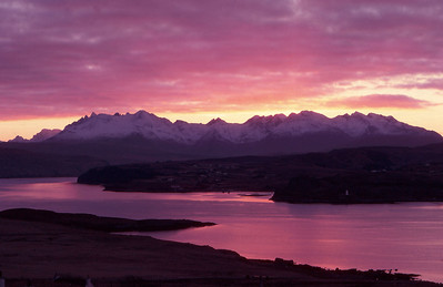 Black Cuillin sunset from Ullinish, Isle of Skye, Scotland