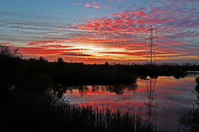 Whisby Nature Park sunset, Lincoln