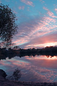 Swanholme Lakes sunset, Lincoln