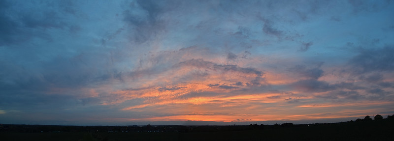 10.05.15 - Pastels  A 2 shot photomerge panorama just after sunset yesterday