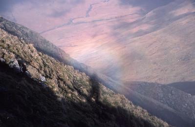Brokken Spectre on Beinn Eunaich, West Highlands of Scotland