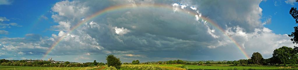 Big Rainbow over Lincoln