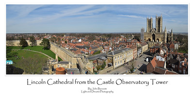 Lincoln Cathedral from the Castle Observatory Tower
